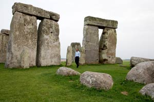 President obama inside Stonehenge. Official White House photo by Pete Souza