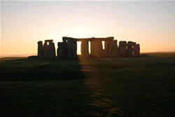 View of sunset on a Stonehenge tour.