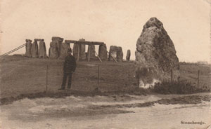 Policeman employed in the early 20th century to guard Stonehenge.