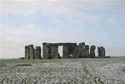 Winter scene at Stonehenge