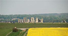 View of Stonehenge seen on our extended walking tour