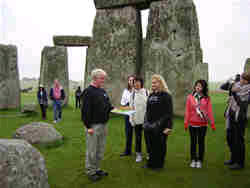 Guests on an Inner circle tour at Stonehenge.